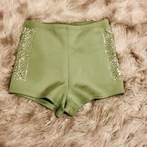 High waisted Embellished shorts